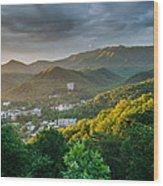 Gatlinburg Tennessee Great Smoky Mountain Sunrise Wood Print by Mark VanDyke