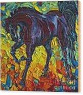 Horse Wood Print by Willson Lau