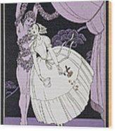 Karsavina Wood Print by Georges Barbier