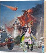 Mario Moreno As Cantinflas In El Bombero Atomico  Wood Print by Jim Fitzpatrick