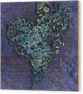 Mechanical - Heart Wood Print by Fran Riley