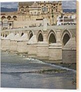 Mezquita And Roman Bridge In Cordoba Wood Print by Artur Bogacki