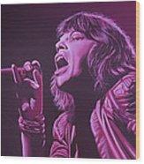 Mick Jagger Wood Print by Paul Meijering