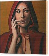 Monica Bellucci Wood Print by Paul Meijering