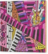 Musical Wonderland Wood Print by Maverick Arts