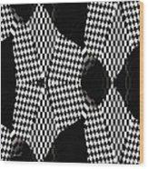 Organic Optical Illusion 4 Wood Print by The Art of Marsha Charlebois