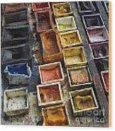 Paint Box Wood Print by Bernard Jaubert