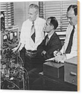 Physicists Brattain, Bardeen And Wood Print by Science Photo Library