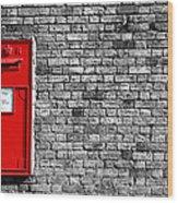 Post Box Wood Print by Mark Rogan