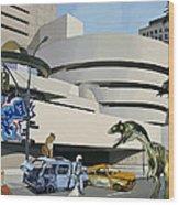 Post-nuclear Guggenheim Visit Wood Print by Scott Listfield
