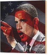 President Barack Obama Wood Print by Marvin Blaine