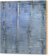 Raindrops On Reflections Wood Print by KM Corcoran