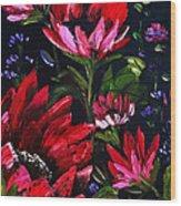 Red Flowers Wood Print by Shirwan Ahmed