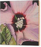 Rose Of Sharon Wood Print by Karen Beasley