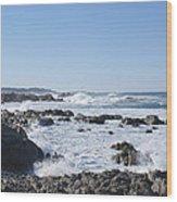 Sea Foam Wood Print by Barbara Snyder