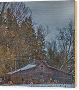 Small Barn Wood Print by Paul Freidlund