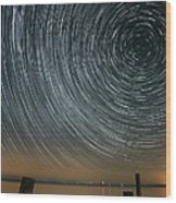 Star Trails 1 Wood Print by Benjamin Reed