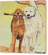 Stick With Me Wood Print by Pat Saunders-White