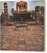 Sukhothai Buddha Wood Print by Adrian Evans