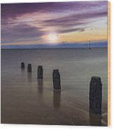 Sunset Beach Wood Print by Ian Mitchell