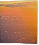 Sunset In The Sky Wood Print by Raimond Klavins