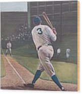 The Babe Sends One Out Wood Print by Mark Haley
