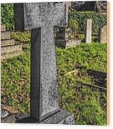 The Cross Wood Print by Adrian Evans