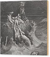 The Deluge Wood Print by Gustave Dore