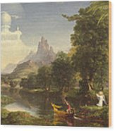 The Voyage Of Life Youth Wood Print by Thomas Cole