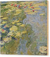 The Waterlily Pond Wood Print by Claude Monet