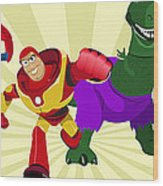 Toy Story Avengers Wood Print by Lisa Leeman