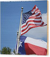 God Has Blessed America Wood Print by Connie Fox