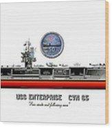 Uss Enterprise Cvn 65 2012 Wood Print by George Bieda