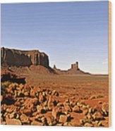 Utah's Iconic Monument Valley Wood Print by Christine Till