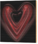 Valentine Wood Print by Christopher Gaston