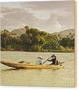 Vietnamese Fishermen Wood Print by Fototrav Print