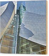 Walt Disney Concert Hall Vertical Los Angeles Ca Wood Print by David Zanzinger