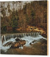 Waterfall Wood Print by Mario Celzner