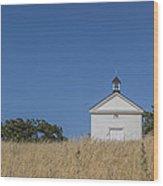 White Country Church Wood Print by David Litschel