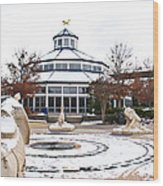 Winter In Coolidge Park Wood Print by Tom and Pat Cory
