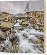 Winter Rapids Wood Print by Adrian Evans