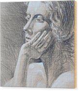 Woman Head Study Wood Print by Irina Sztukowski