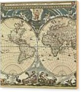 World Map Wood Print by Gary Grayson