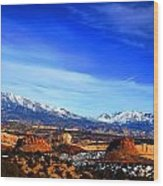 Capitol Reef National Park Burr Trail Wood Print by Mark Smith
