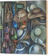 1025 N. Peters Wood Print by Brenda Bryant