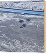Sinkholes In Northern Dead Sea Area Wood Print by Ofir Ben Tov