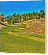 #12 At Chambers Bay Golf Course - Location Of The 2015 U.s. Open Championship Wood Print by David Patterson