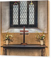 14th Century Chapel Wood Print by Adrian Evans