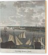 1824 Klinkowstrom View Of New York City From Brooklyn  Wood Print by Paul Fearn