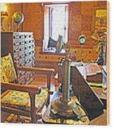 1920's Office Wood Print by Barbara McDevitt